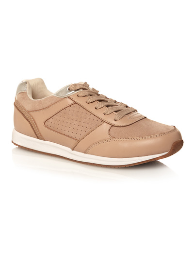 Nude Perforated Trainers