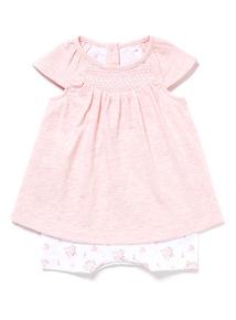 Pink Jersey Romper (Newborn-12 months)