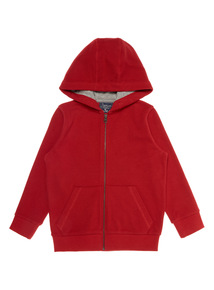Boys Red Zip Through Sweater (3 - 12 years)