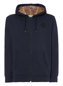Russell Athletic Navy Borg Lined Hoodie