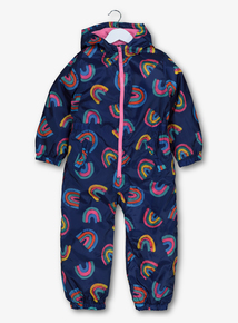 Navy Rainbow Shower Resistant All In One (9 months-6 years)