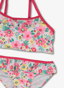 31fbe5778b Multicoloured Floral 3 Piece Swim Set (4-12 Years)