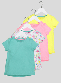 Multicoloured Short Sleeve T-Shirts 4 Pack