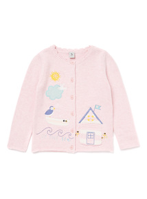 Pink 'By The Sea' Knitted Cardigan (9 months-6 years)