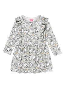 Grey Beauty and The Beast Chip Print Dress (3-14 years)