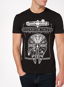 Black Disney Star Wars Falcon Tee