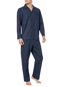 Navy Traditional Pyjamas Set
