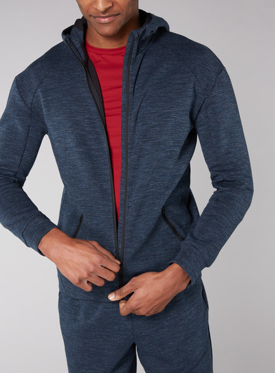 Admiral Blue Zip Through Hoodie