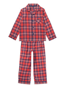 Red Traditional Checked Woven Pyjama Set (3 - 14 years)