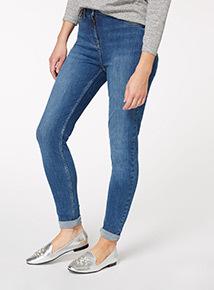 Mid Denim Super Stretch Skinny Jeans