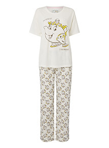 Disney Beauty And The Beast Pyjama Set