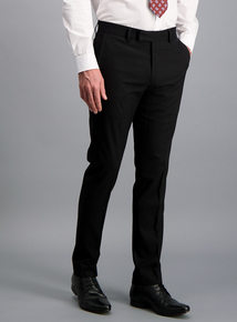 Black Tailored Fit Dinner Suit Trousers