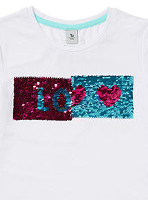 White Two Way Dance Hearts Top (3-14 years)