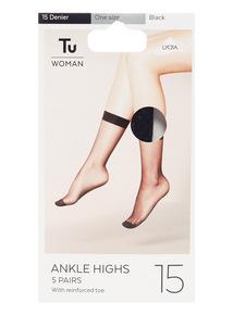 15 Denier Knee Highs 5 Pack