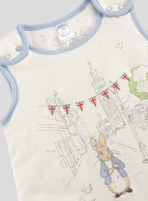 Peter Rabbit Blue Trim Baby Sleep Bag (0-24 months)