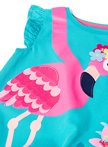 Multicoloured Flamingo T-Shirt and Leggings Set (9 months-6 years)