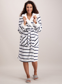 Multicoloured Stripe Dressing Gown