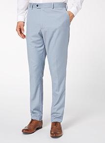 Light Blue Herringbone Trousers