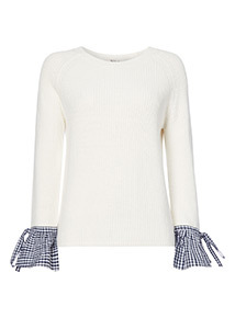 Gingham Woven Sleeve 2-in-1