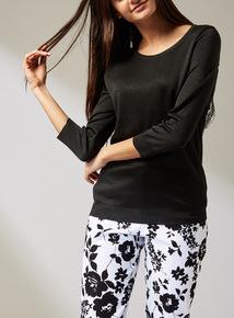 Premium Black Lace Back Jumper