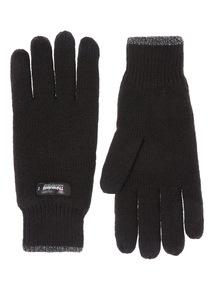 Black Thinsulate Knit Glove