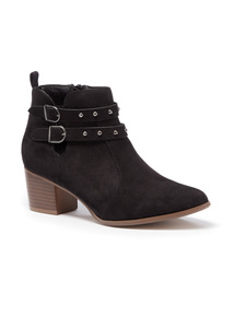 Black Double Strap Western Boot