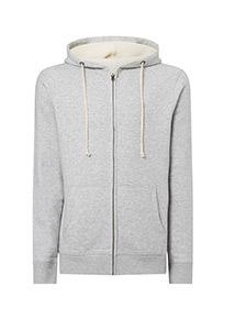 Grey Marl  Zip-Through Sweater