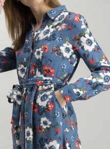 Multicoloured Floral Shirt Dress