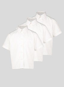 White Plus Fit Non Iron Blouses 2 Pack (3-12 years)