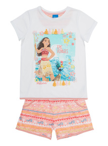 Multicoloured Disney Moana PJ Set (18 months - 10 years)