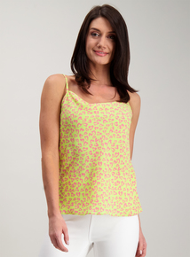 ddc7718a045 Lime   Pink Animal Print Strappy Camisole
