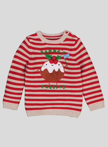 Christmas Pudding Jumper (0-24 Months)