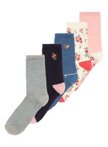 Patterned Socks 5 Pack