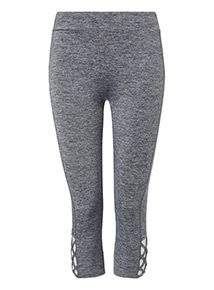 Cross Strap Cut Out Cropped Active Leggings