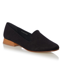 Black Flared Heel Slipper