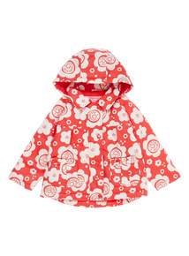 Girls Red Preppy Blooms Mac (9 months-6 years)