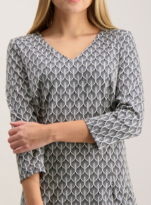 Monochrome Ponte Shift Dress