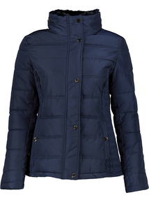 Navy Quilted Padded Jacket