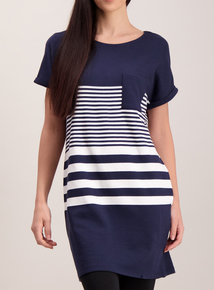 Navy Nautical Block Stripe Tunic