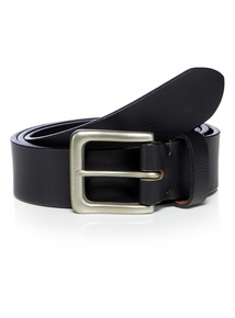 Premium Black Leather Belt