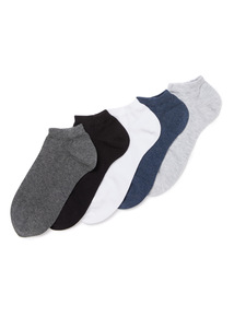 5 Pack Multicoloured Marl Stay Fresh Trainer Socks