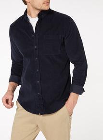 Navy Cord Long Sleeve Shirt