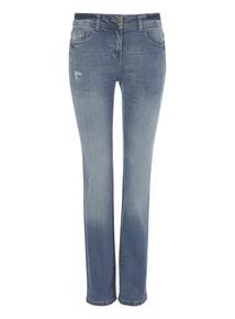 Blue Straight Leg Fashion Jeans