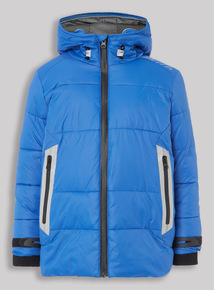 Blue Premium Puffa Jacket (3-14 years)