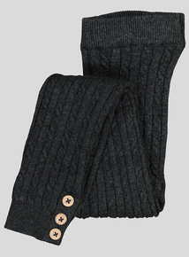 Charcoal Cable Knit Leggings (9 months - 6 years)