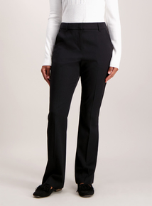 Black Slim Bootcut Trousers
