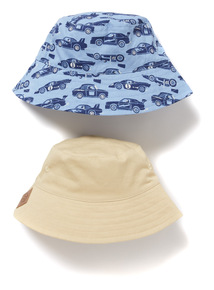 2 Pack Multicoloured Bucket Hats (1-9 years)