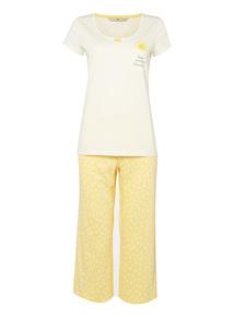 Yellow Pocket PJ Set