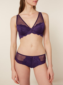 Floral Lace High Apex Plunge Bra