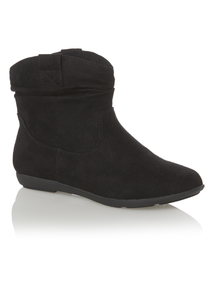 Black Slouch Ankle Boot